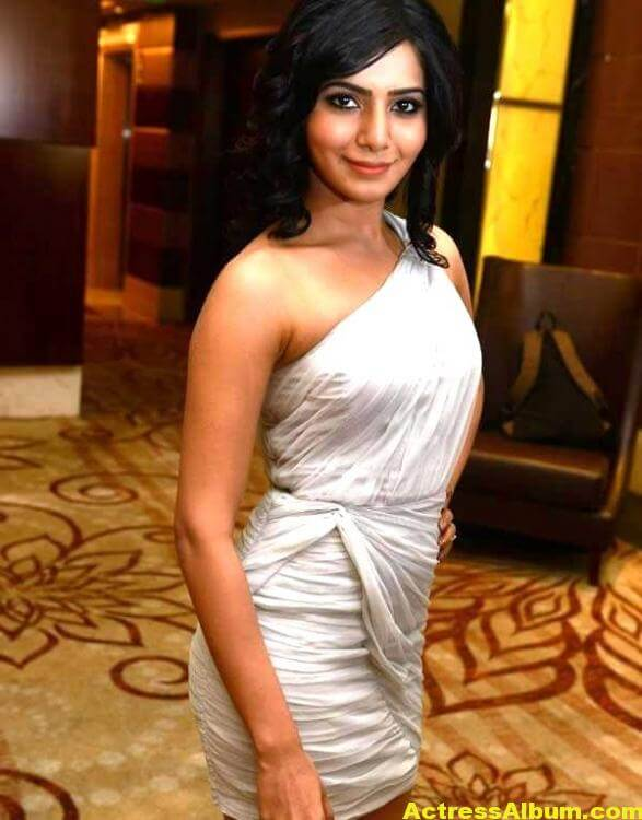 Samantha Hot Photos In White Dress 5