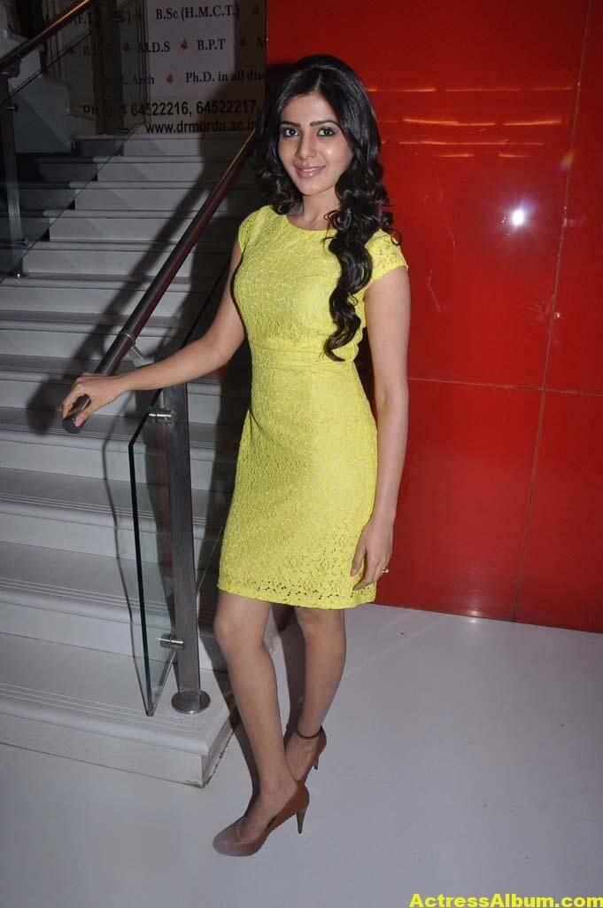 Samantha Hot Photos In Yellow Dress 4