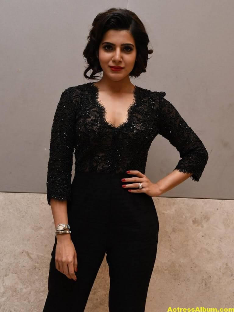 Samantha Images Gallery In Black Dress 1