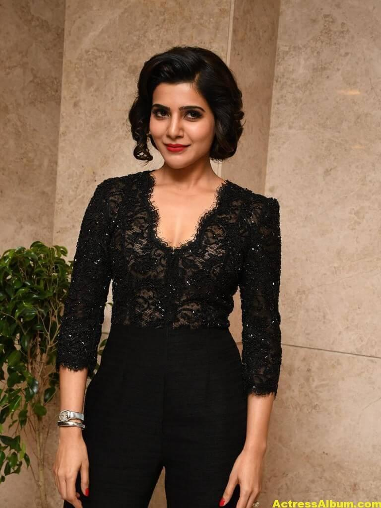Samantha Images Gallery In Black Dress 2