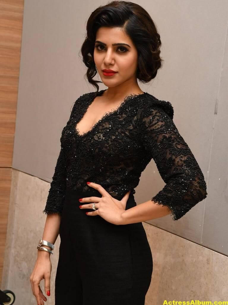 Samantha Images Gallery In Black Dress 3