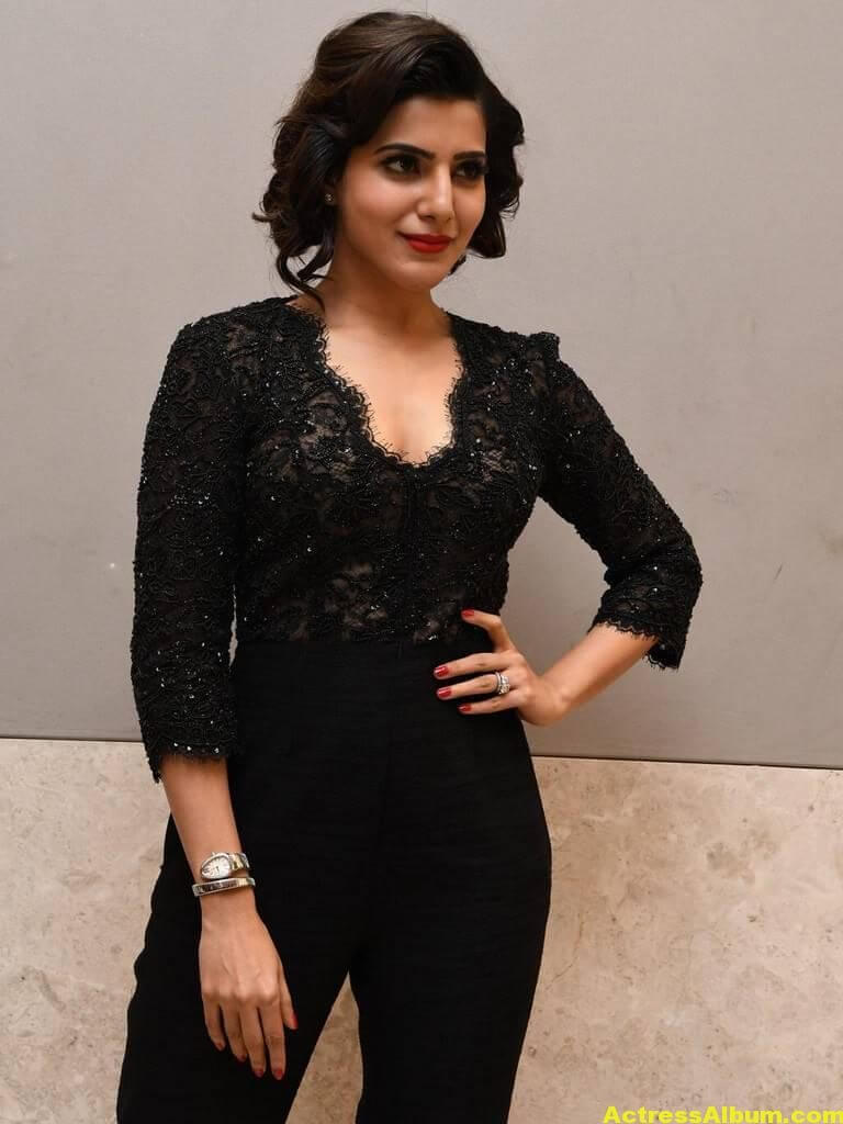 Samantha Images Gallery In Black Dress 5