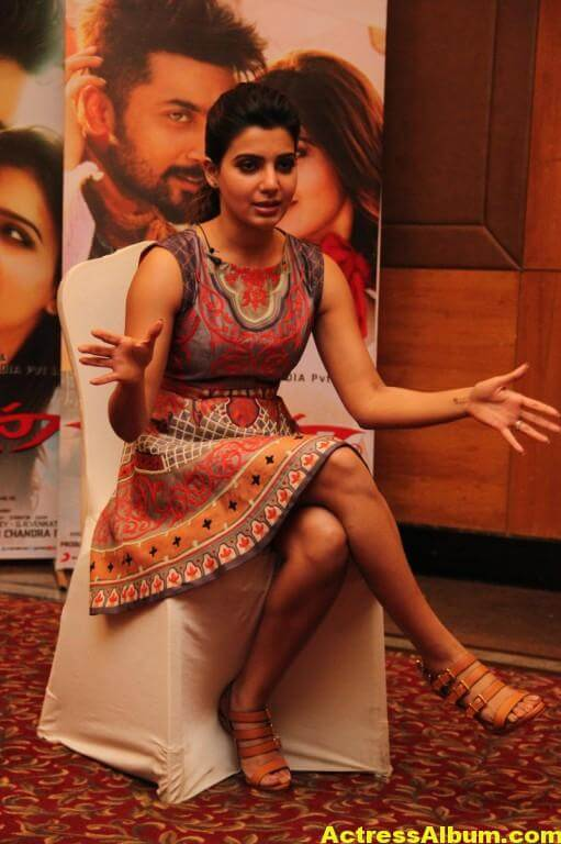 Samantha Latest Hot Smiling Stills In Red Dress 2