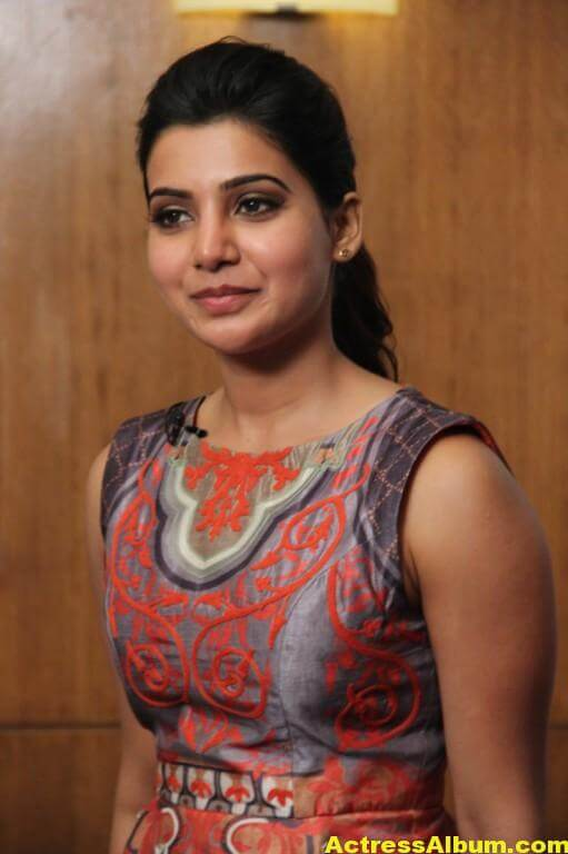 Samantha Latest Hot Smiling Stills In Red Dress 3