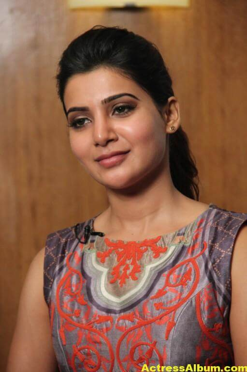 Samantha Latest Hot Smiling Stills In Red Dress 5