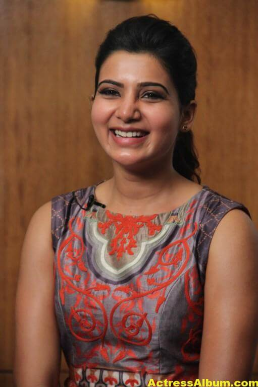 Samantha Latest Hot Smiling Stills In Red Dress 6