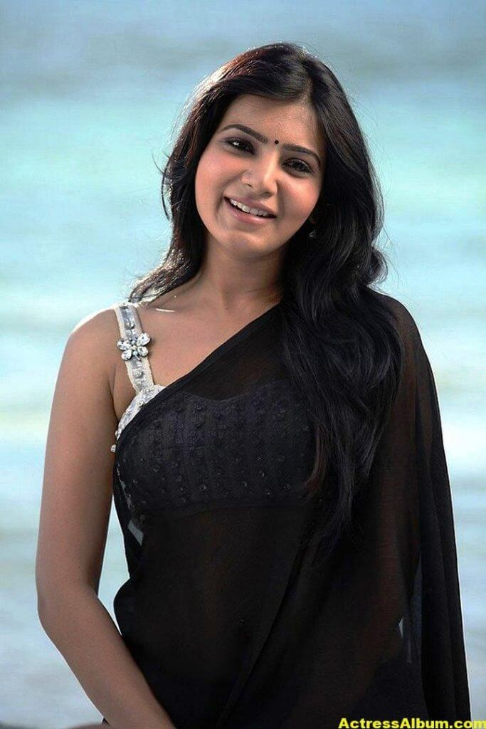 Samantha Ruth Prabhu Hot Photos In Black Saree 1