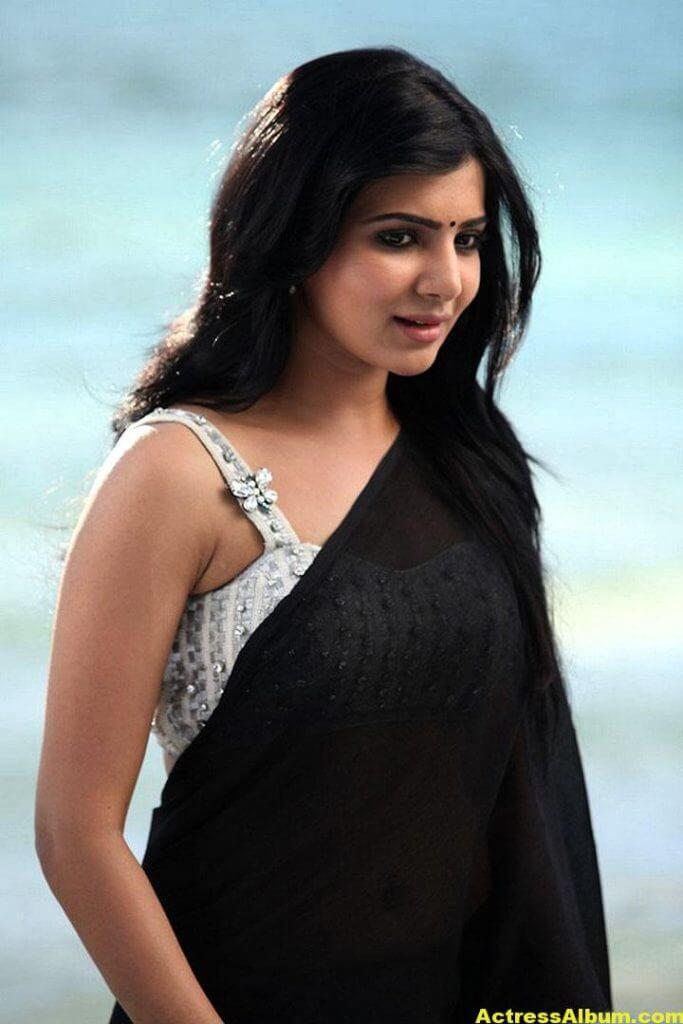 Samantha Ruth Prabhu Hot Photos In Black Saree 2