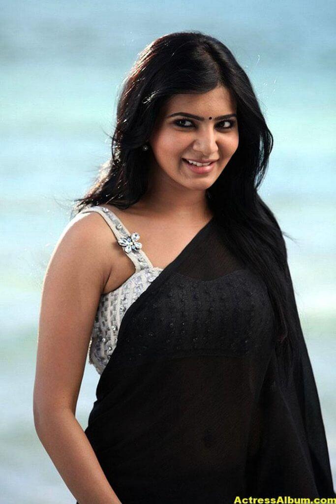 Samantha Ruth Prabhu Hot Photos In Black Saree 3
