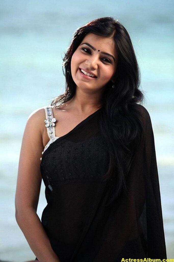 Samantha Ruth Prabhu Hot Photos In Black Saree 4