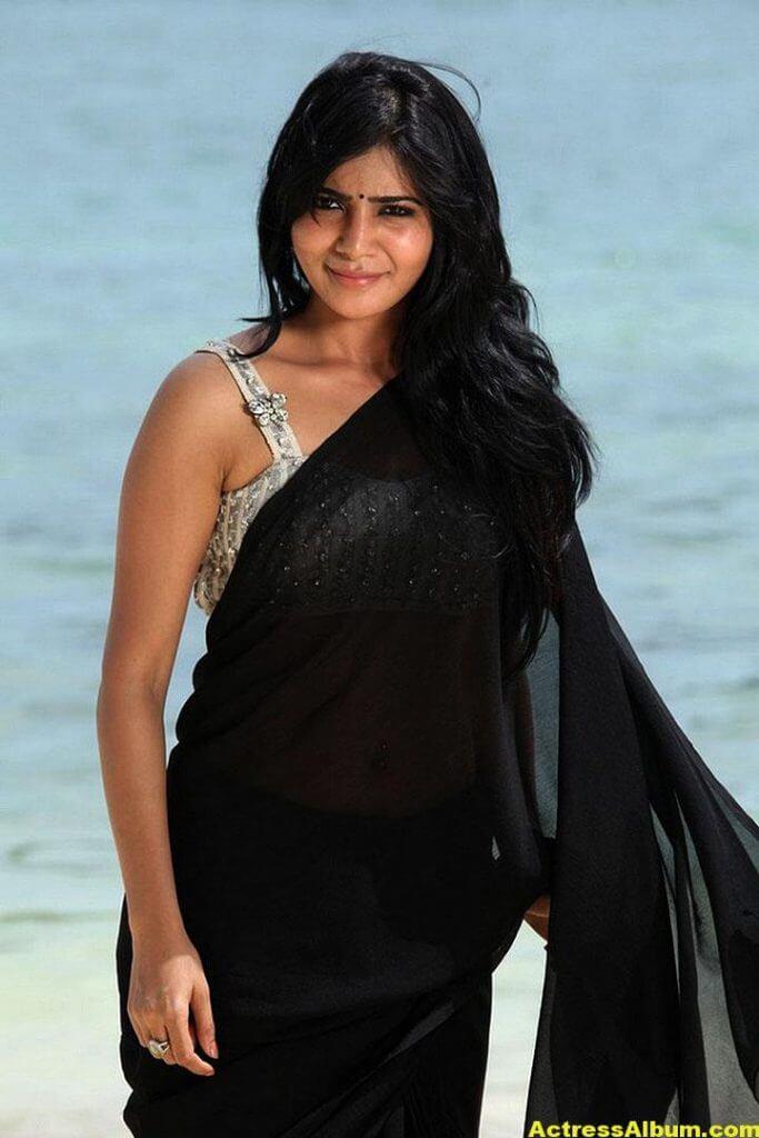 Samantha Ruth Prabhu Hot Photos In Black Saree 5