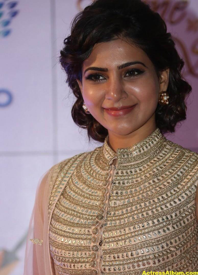 Samantha Stills At Memu Saitham In White Dress 4