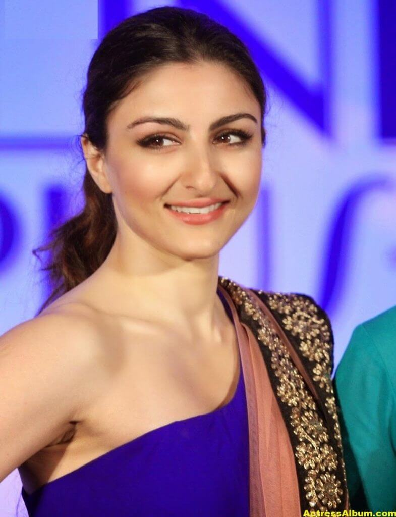 Soha Ali Khan Hot Stills In Blue Dress 2