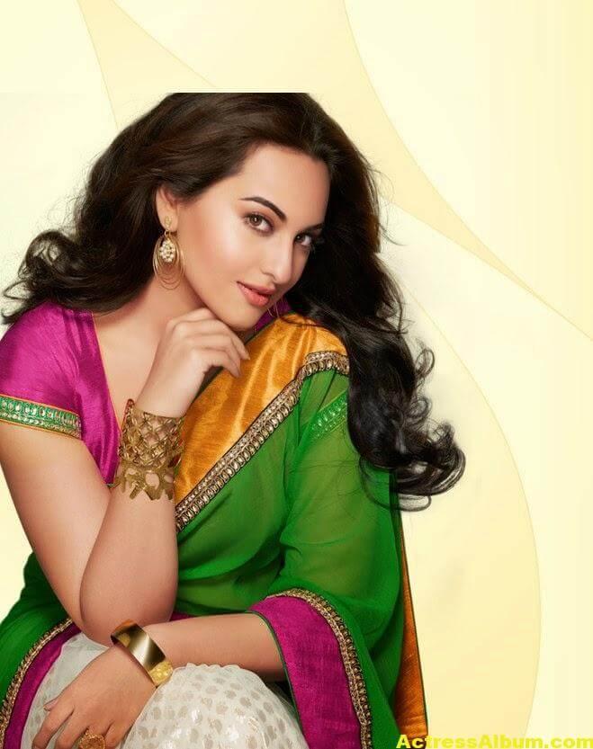 Sonakshi Sinha Latest Stills in Beautiful Saree 1