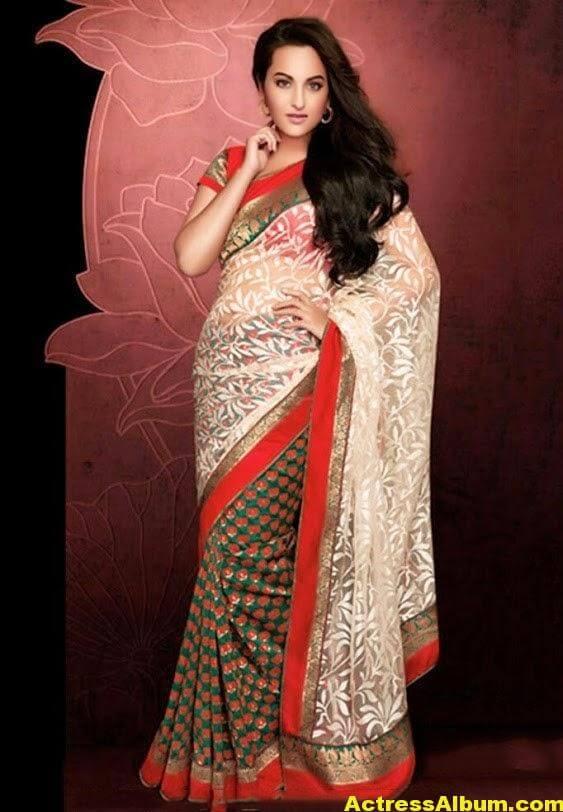 Sonakshi Sinha Latest Stills in Beautiful Saree 4