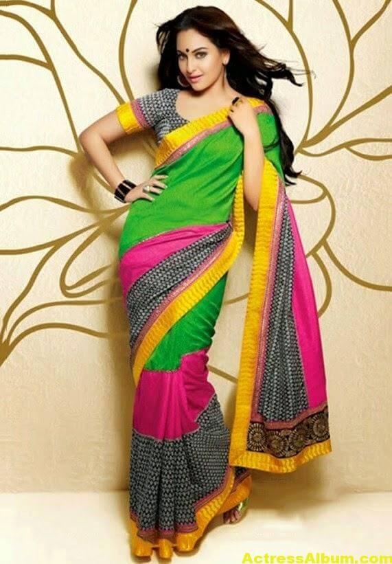 Sonakshi Sinha Latest Stills in Beautiful Saree 5