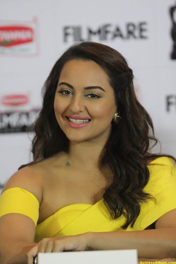 Sonakshi Sinha Photos In Colorful Yellow Dress