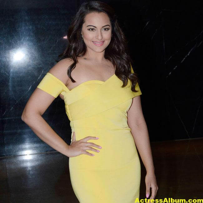 Sonakshi Sinha Photos In Colorful Yellow Dress 2