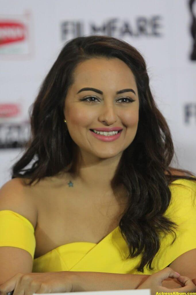 Sonakshi Sinha Photos In Colorful Yellow Dress 3