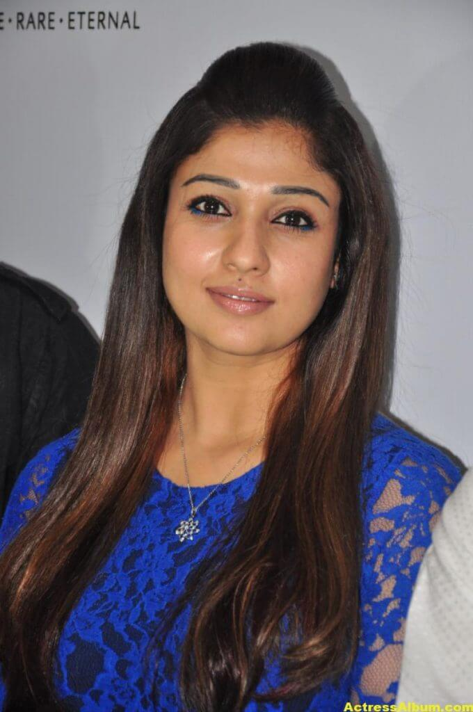 Spicy Nayanthara Pics in Blue Dress