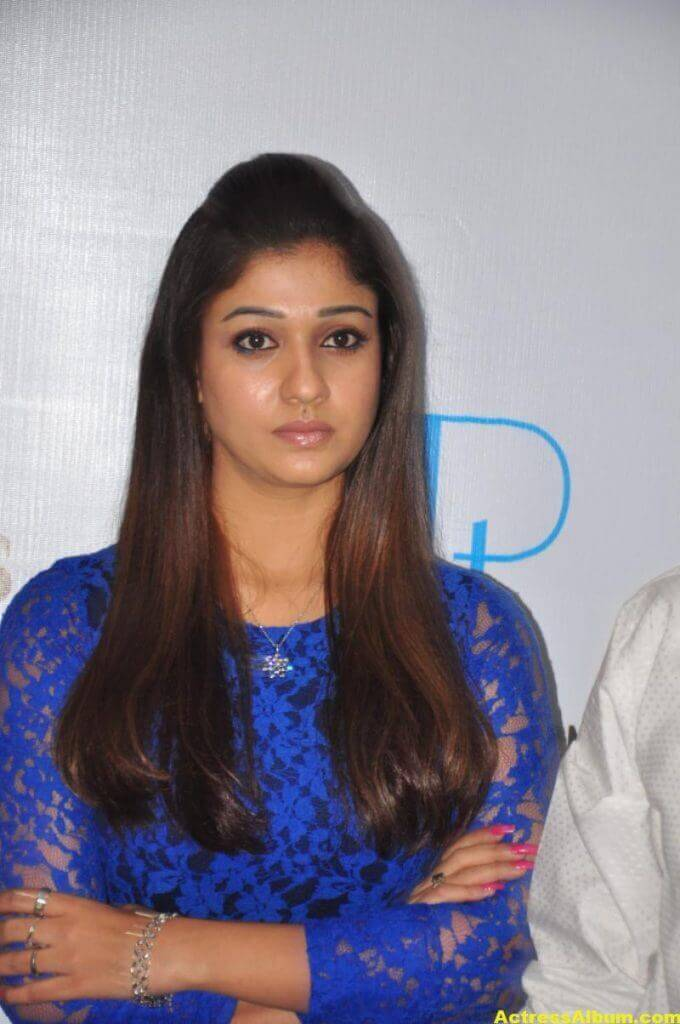 Spicy Nayanthara Pics in Blue Dress 3