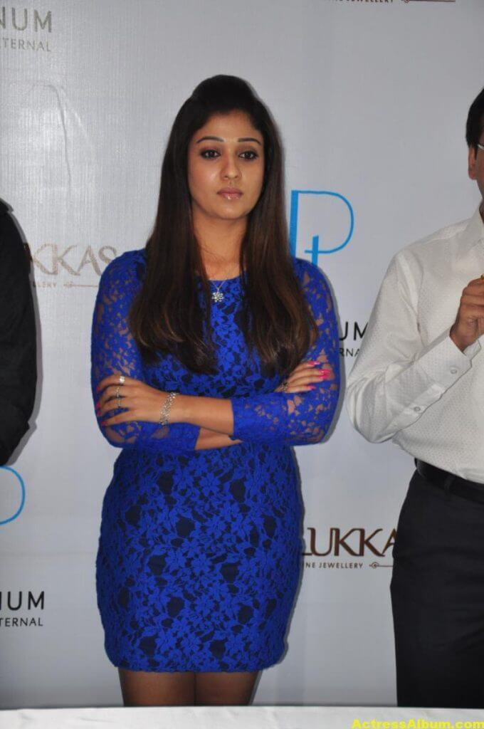 Spicy Nayanthara Pics in Blue Dress 5