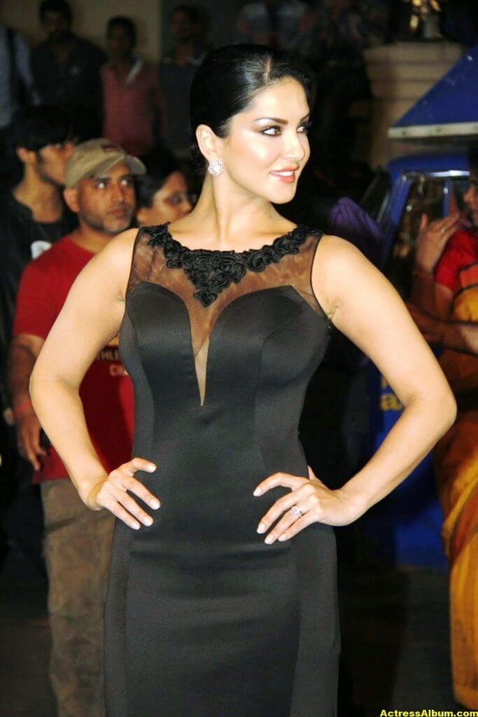 Sunny leone Hot Photos In Black Dress 3