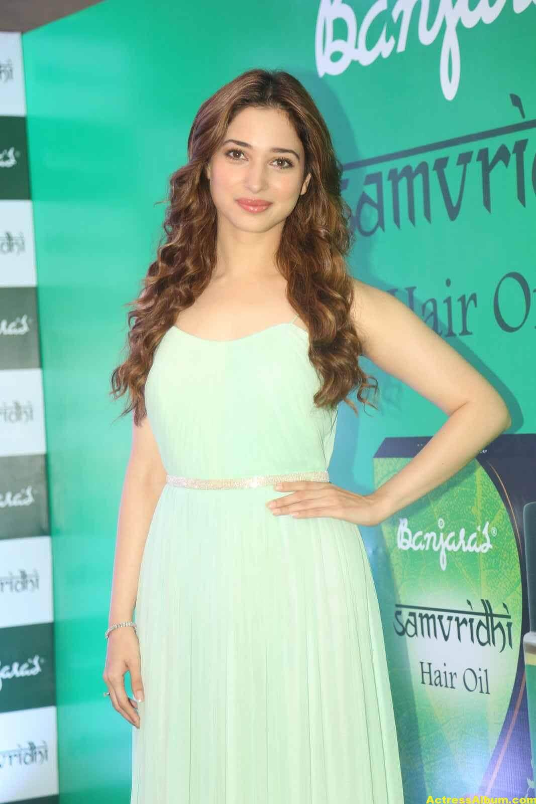 Tamanna Latest Cute Photos In Green Dress 2