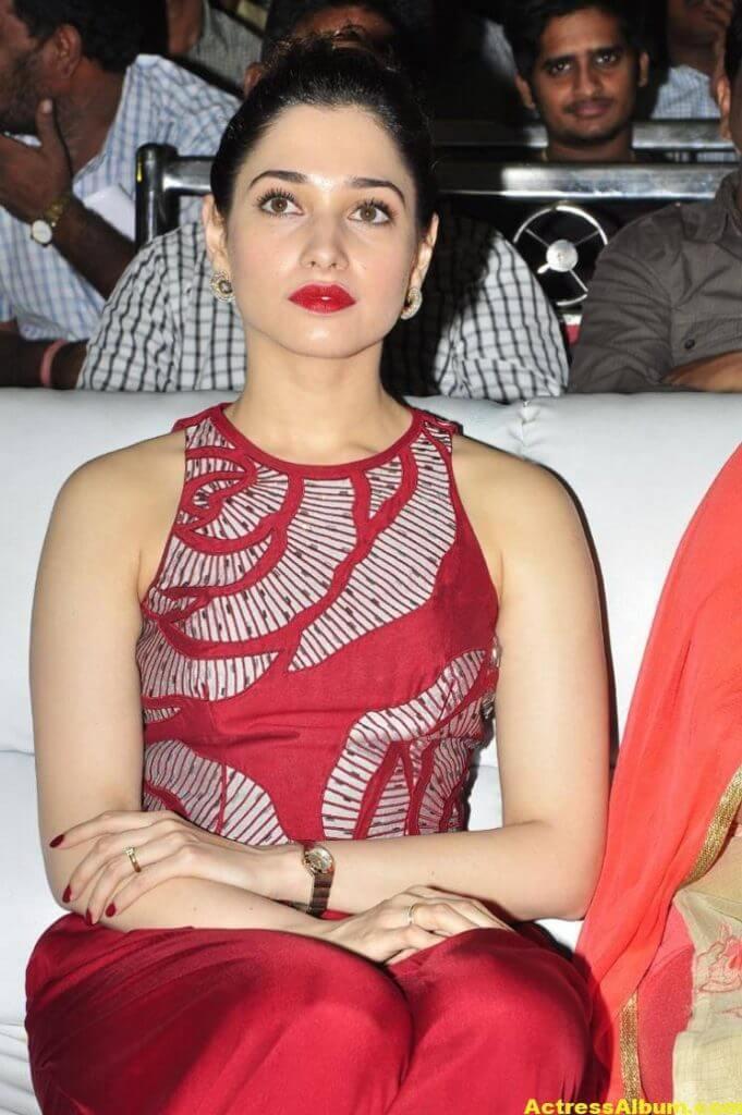 Tamanna Latest Stills In Hot Red Dress 2