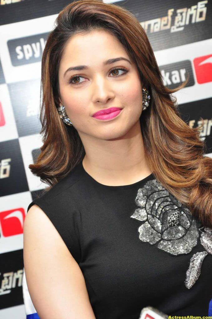 Tamanna Stills In Hot Black Dress 1