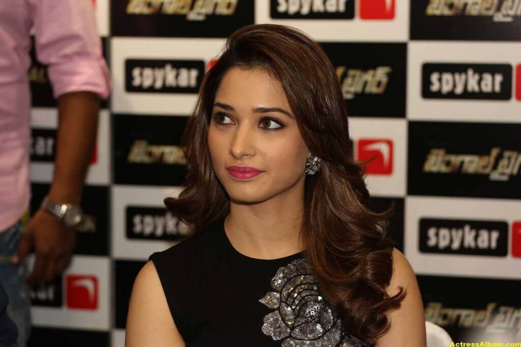 Tamanna Stills In Hot Black Dress 4