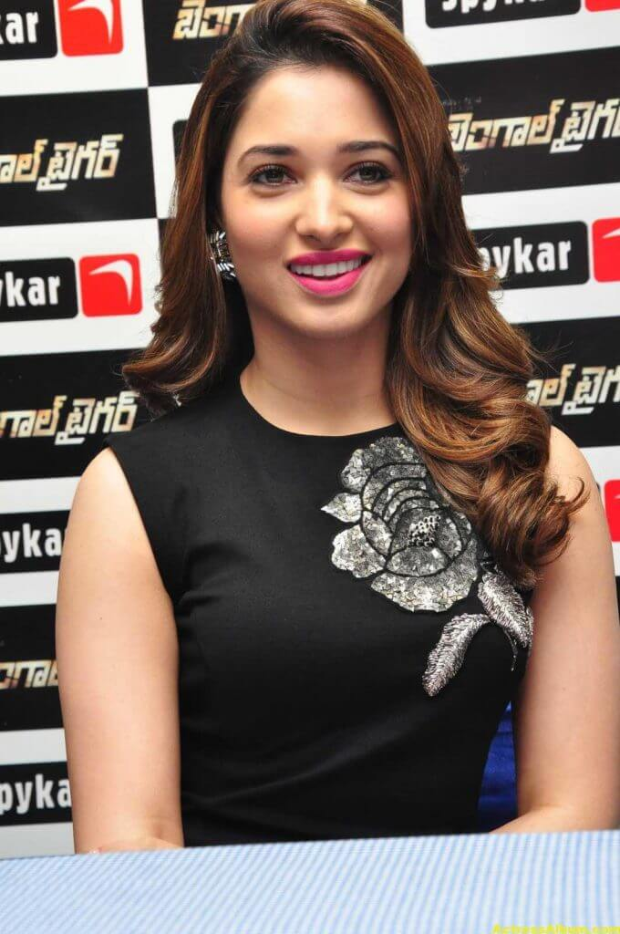 Tamanna Stills In Hot Black Dress 5