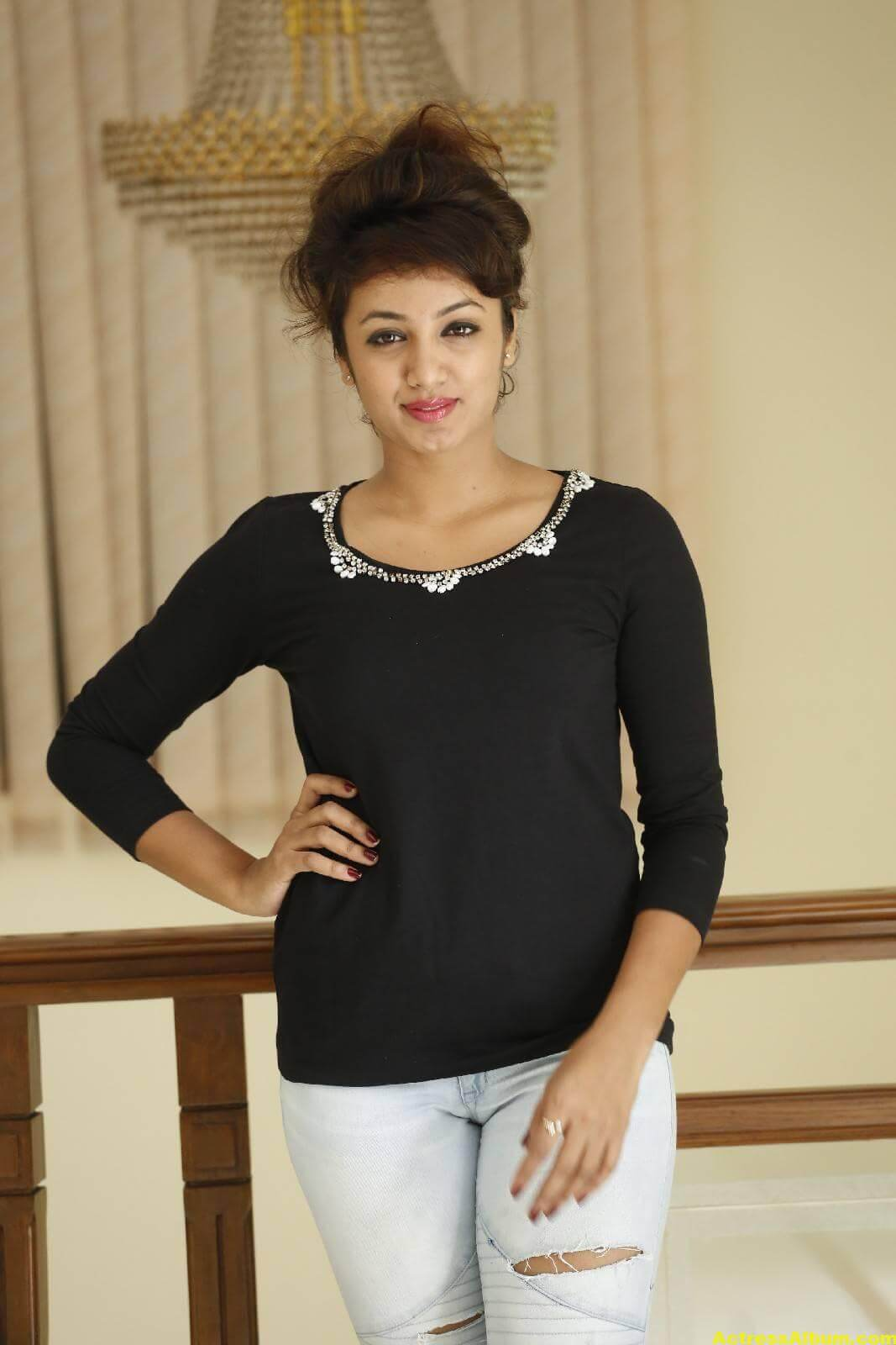 Tejaswi Latest Photos In Black Dress 3