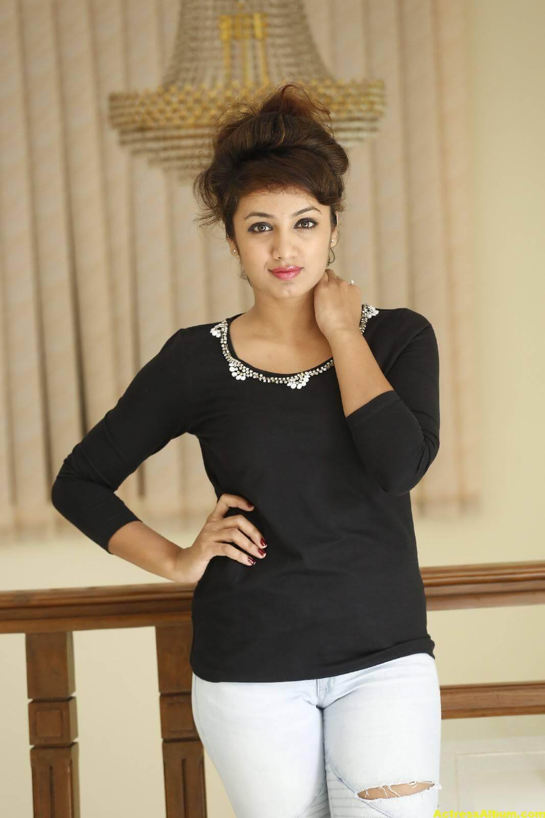 Tejaswi Latest Photos In Black Dress 4