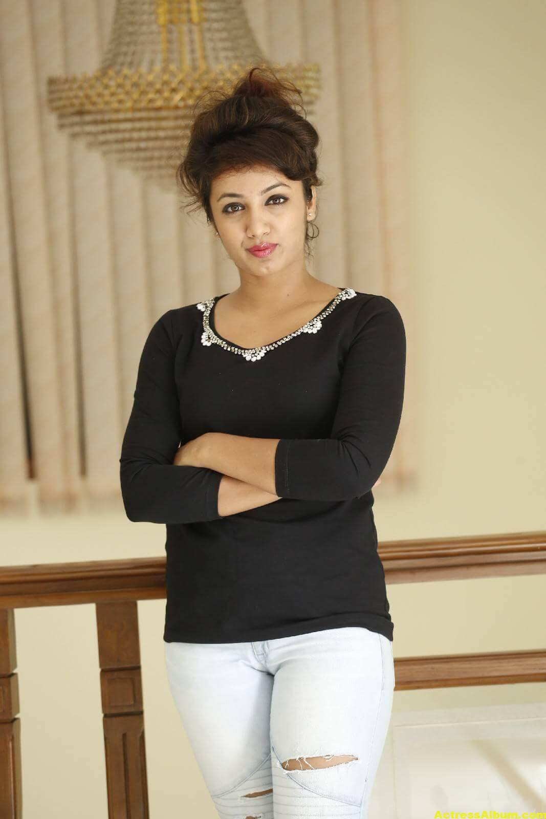 Tejaswi Latest Photos In Black Dress 5