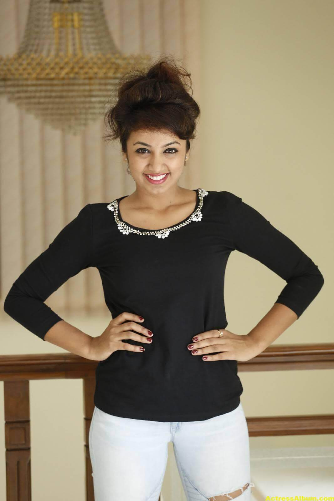 Tejaswi Latest Photos In Black Dress 6