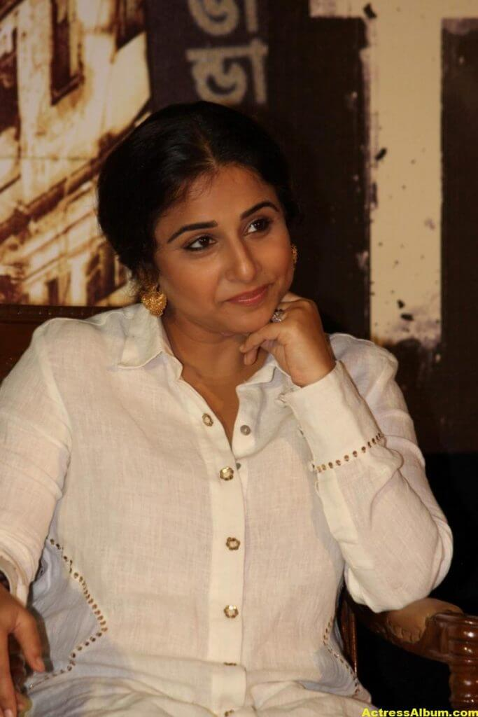 Vidya Balan Smiling Photos In White Dress 2