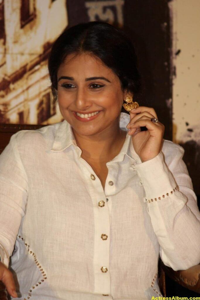 Vidya Balan Smiling Photos In White Dress 6