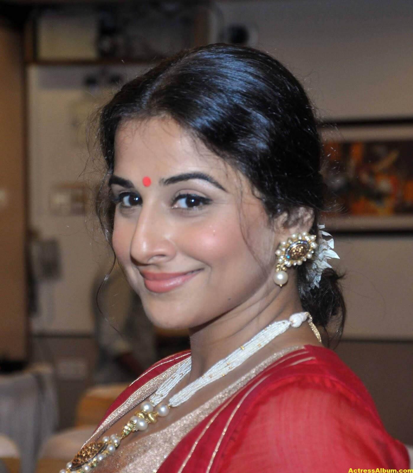 Vidya Balan Unseen Stills In Red Dress 1