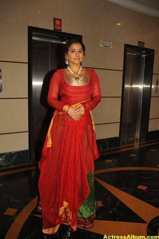 Vidya Balan Unseen Stills In Red Dress 2