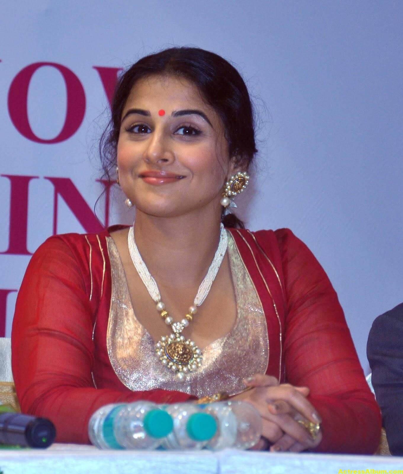 Vidya Balan Unseen Stills In Red Dress 3