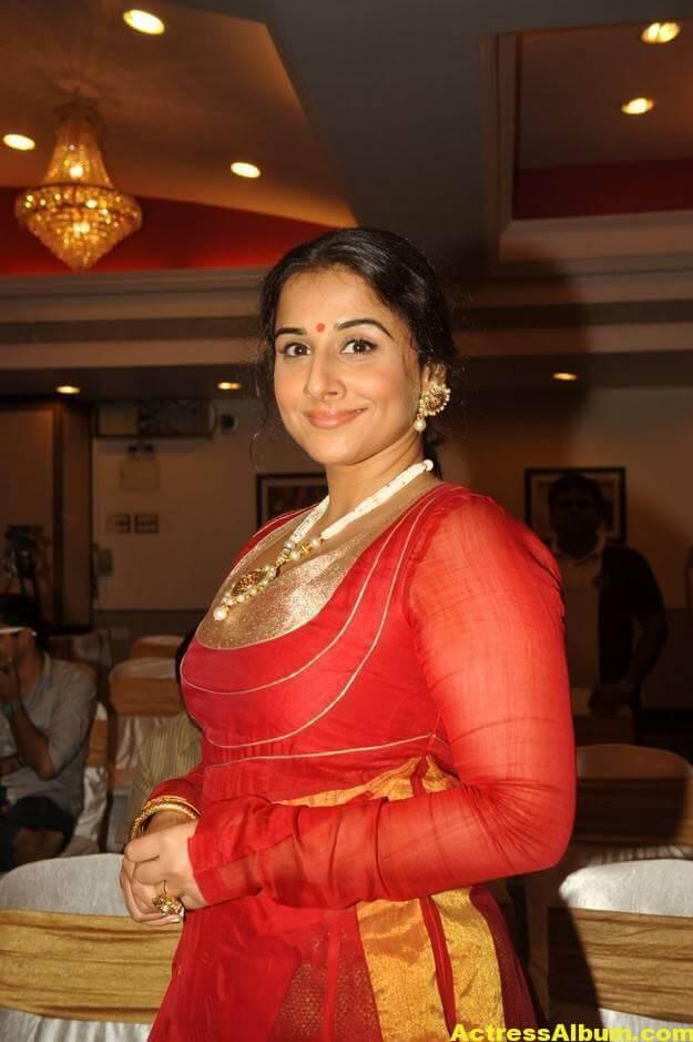 Vidya Balan Unseen Stills In Red Dress 4