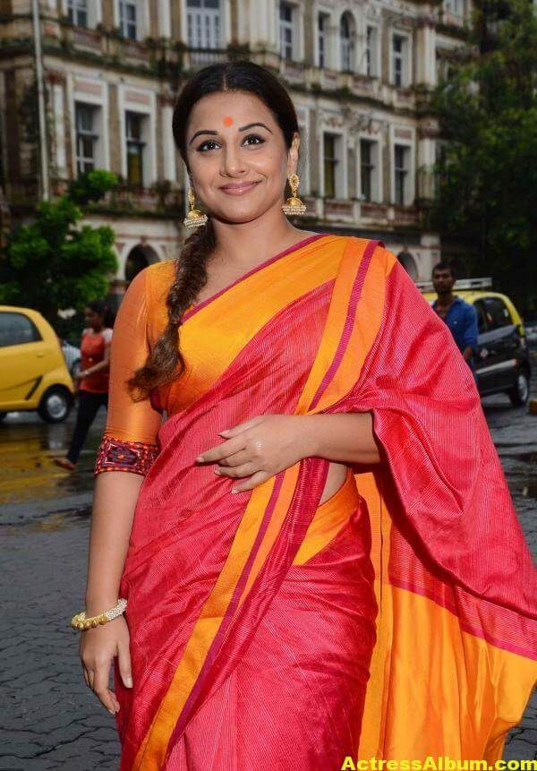 Vidya Balan Very Hot Beautiful Photos In Red Saree 1