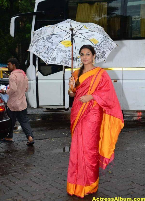 Vidya Balan Very Hot Beautiful Photos In Red Saree 3