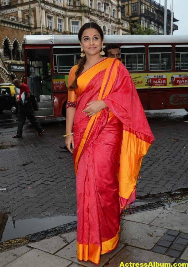 Vidya Balan Very Hot Beautiful Photos In Red Saree 4