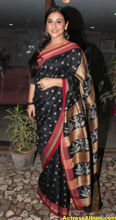 Vidya Balan Very Hot Hot Photos In Black Saree 5
