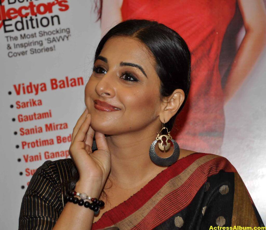 Vidya Balan Very Hot Hot Photos In Black Saree 7