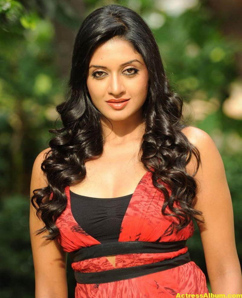 Vimala Raman Gorgeous Stills In Red Dress 2