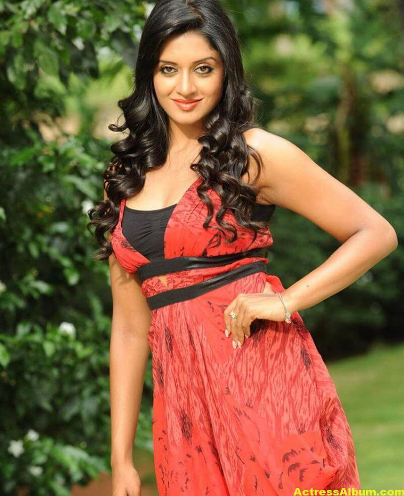 Vimala Raman Gorgeous Stills In Red Dress 3