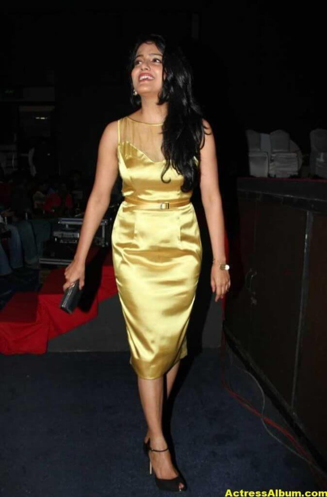 Vishakha Singh Hot Photos In Yellow Dress (5)